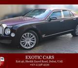 Bentley Mulsanne Mulliner 2013 Purple+Maroon/Beige 17,000 KM