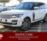 Range Rover Vogue Autobiography 2014 White-Brown 55,000 KM