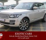Range Rover Vogue SE Supercharged 2015 Golden-Brown 2,000 KM   Warranty Until Aug 2020