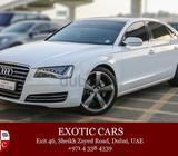 Audi A8 3.0 2013 White-Brown 66,000 KM