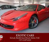 Ferrari 458 Italia 2014 Red/Tan 12,000 KM | Warranty till Sep 2016 + Service Contract till Sep 2020