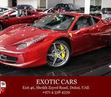 Ferrari 458 Italia 2012 Maroon/Black 12,000 KM | Service Contract until Dec 2018