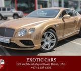 Bentley GT W12 Mulliner 2016 Golden/Brown+Tan 10,000 KM