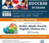 Learn Arabic, French, Hindi and English so that your children dont need tuitions for these subject