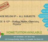 Tutoring/5-12 Grade (CBSE+IGCSE curriculum)All Subject (Specialization in Biology, Physics, Chemistr