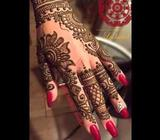 All kind of henna design bridal ,party and tatoos will b applied as per the requirement of client on