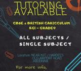 Tuition Classes available for Grade 1 to Grade 9 for all subjects(CBSE Caricculum & British Cariccul