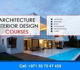 Architecture Interior Design CoursesAutocad3ds MaxRevitPHOTOSHOPMICROSTATIONV-RAYFor more informatio