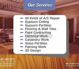 All Kinds of A/C RepairGypsum Ceiling Gypsum PartitionFlooring & Wall TilesPaint Contracting Electri