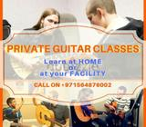 Guitar Classes: Private one-on-one classes at your home or at your facility. Learn your favourite so