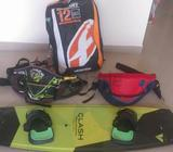 Kitesurfing Kit1. F1 kite 12m with new lines - used 2-3 times (very good condition)2. Blue/red harne