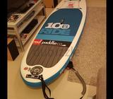 RED inflatable stand up paddle board. Model: RIDE 10'6 (for riders upto 100kg)Comes with carry bag,