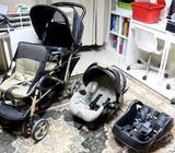 Graco Double Stroller with Car Seat and BaseUsed for our 2 girls mostly while travelling (at airport