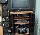 TV Trolley with rotating base so that you can watch TV from different angles.Oak wood colour.Very go