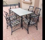 Class top garden table