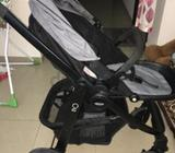 Excellent condition , rarely used as my kid doesn't like to stay in stroller Less than a year purcha