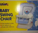 Baby swing chair . Used for hardly one month