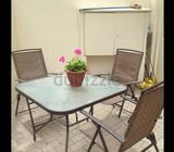 TABLE AND 4 CHAIRS FOR GARDEN OR PATIOMOVING SALEPLEASE CHECK OUR ADDS