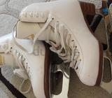 Jackson Artiste figure skates with sharpened Mark IV blades. Skate size 6B. Used for about a year bu