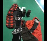 Entire set of kit for sale Board, Bag, bindings, boots, Jacket, pants