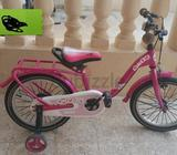 Pink color bicycle for girls aged 3 n above i guess Price on picture is wrong