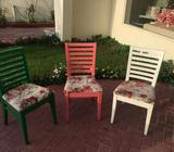 Could be used at home or in restaurant,Heavy duty , good condition 49 chairs are available 130 AED e