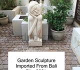 Beautiful garden statue imported from Bali