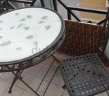Garden table heavy steel material