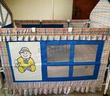 Seldom used baby Crib which is in good condition for sale. This is movable and can be moved to any r