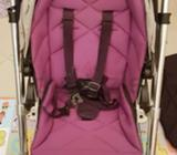 Stroller is very good the handle is scratched from usage and free baby basinet for new born