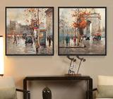 TWO PICTURE COMBINATION.CANVAS PRINTING- WATERPROOF 2 PIECES UNFRAMED CANVAS- ** NO FRAME- ROLLED IN