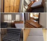 BEDROOM SET- SOLDL SHAPE SOFA CUM BED- SOLDREFRIGERATOR- SOLDTV- SOLDSHOE RACK- SOLDTable with chair
