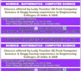Tution (Maths,Physics,Chemistry,Computer Science)