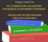 Accounts, Maths, Eco Statistics, Business studies tuitions