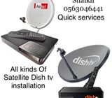 Satellite Airtel Dish tv Antenna installation in Dubai 0563046441