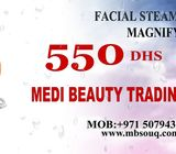 facial steamer with  magnifying lamp dubai uae medi beauty