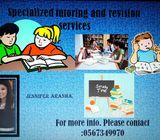 Specialised tutoring and revision services