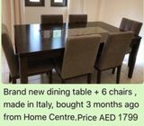 Brand new dining set bought 3 months ago from Hiome center