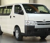 Toyota Hiace Van with Driver Available on Rent