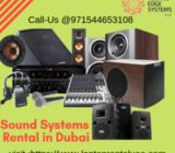 sound system Rental Dubai | Speakers Rental Dubai - Techno Edge