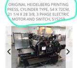 original HEIDELBERG printing machine (3 tape) made in german  -  AED 39,000