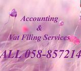 06 7482157 VAT/TAX/PREPARATION/VAT RETURN/FILING IN UAE