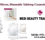 Makeup Vanity Mirror Tabletops Lighted Mirror Cosmetic Mirror with 12 LED Dimmable Bulbs