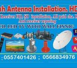 Satellite Airtel Dishtv instalation Services  0557401426 UAE