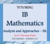 IB HL Math Analysis and Approaches tutoring Dubai