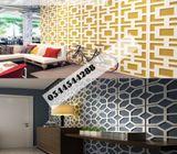 Router cut Mashrabiya design, jali Islamic pattern cutting