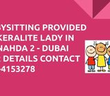 Baby sitting provided in Al Nahda 2 - Dubai