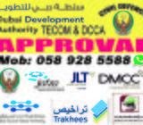 Fit Out Authority Approvals,DCCA(DDA),DM,DCD,DMCC,TRAKHEES,DSO
