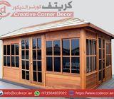 Wooden Gazebo Manufacturer company Uae | Creative Wooden Gazebo | Gazebo Contractor Uae.
