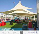 Car Parking shades, Tensile shades, Fabric shades supply and Installation UAE OMAN KSA